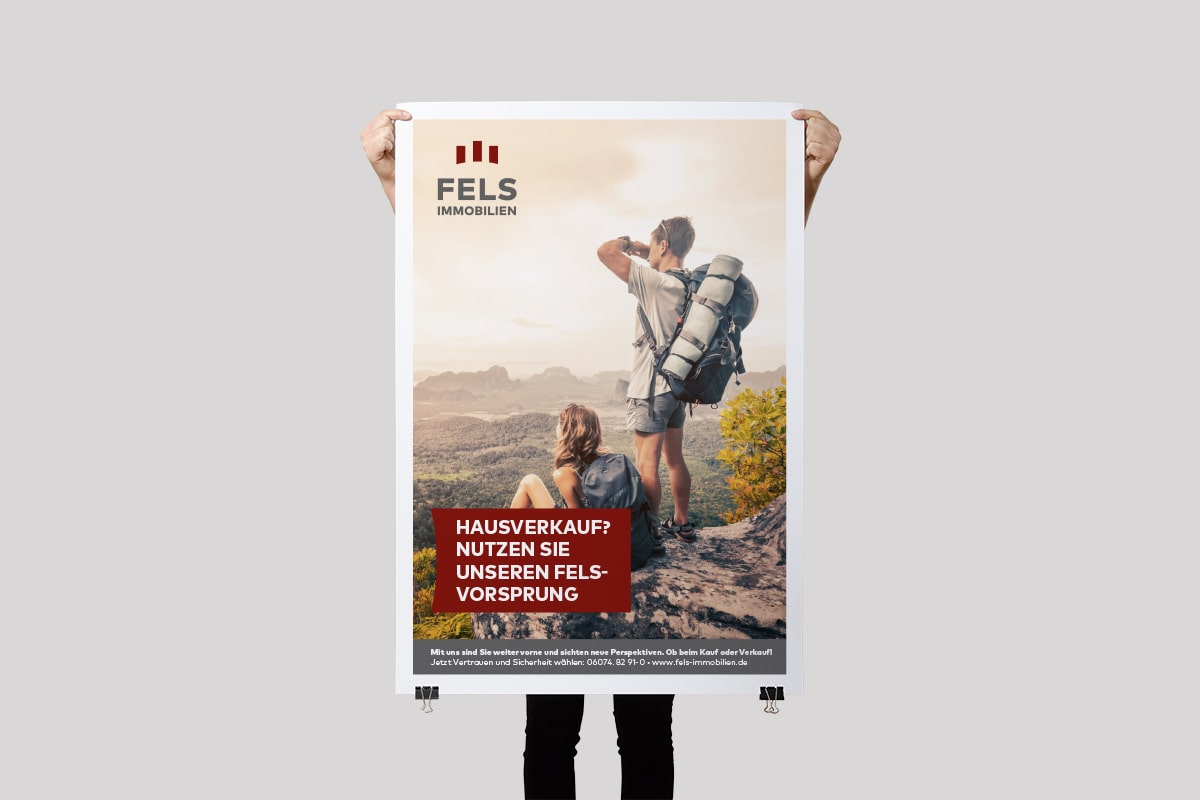 Fels Immobilien Poster