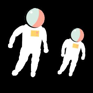 Zwei Astronauten